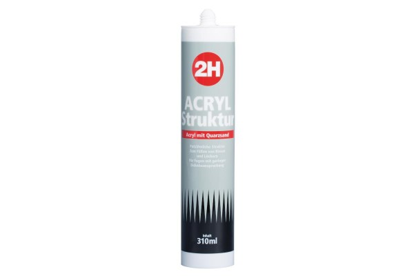 2H Acryl 150 mit Quarzsand weiss 310ml Kartusche