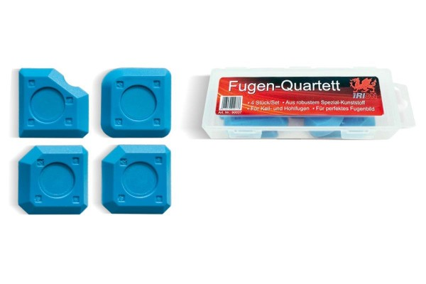 Spachteln Fugen-Quartett blau 4er Set